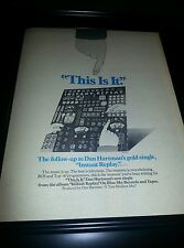 Dan Hartman This Is It Instant Replay Rare Original Promo Poster Ad Framed!