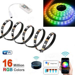 2-5M Smart LED Strip Light, RGB Colour-Changing Strip, Mobile/Alexa/Google Home