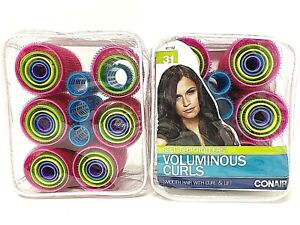 Conair Self Grip Rollers Voluminous Curls 2 Sets  31 Each Smooth Hair Curl Lift