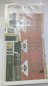 * BILT EEZI G2 Brick Houses or Shops 2 mm scale Model N Gauge Card Kit