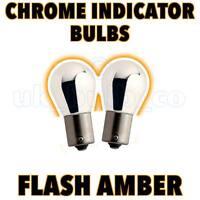 2 x PY21W BAU15s 581 SILVER/AMBER Indicator Car Bulb o