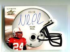 2011 Leaf Ultimate Helmet Die-Cut AUTOGRAPH GOLD Niles Paul/20 Nebraska