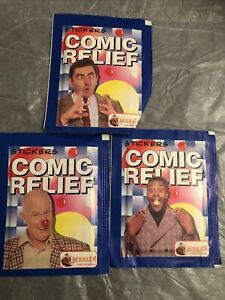 Comic Relief stickers Merlin vintage 3 X packs new