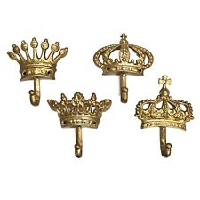 Gold Cast Iron 4pcs Cast Iron Royal Crown Hooks Prince Princess