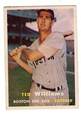 1957 Topps #1 Ted Williams - Boston Red Sox, Excellent - Mint Condition'