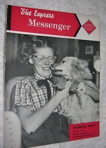 RAILWAY EXPRESS MESSENGER MAGAZINE MARCH, 1955