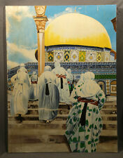 Realistic Oil Painting Mosque, The Dome on Mount in Jerusalem John V Griffins