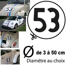 HERBIE 53 OLD  NEW BEETLE VW Volkswagen STICKER AUTOCOLLANT CHOUPETTE COCCINELLE