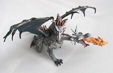 SILVER 2 HEADED FIRE BREATHING FANTASY DRAGON BY PAPO - BRAND NEW WITH TAGS!