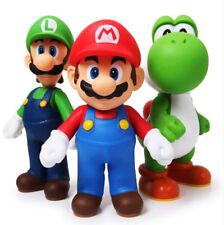 3pcs/set Action Figures Super Mario Bros Luigi Mario Yoshi Toys 11-12 cm High