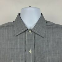 Brooks Brothers Regent Non Iron Gray Plaid Check Mens Dress Button Shirt 16 - 35