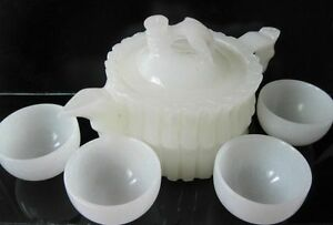 Chinese Beautiful hand-carved natural Afghanistan tea and wine cup full pot NR