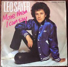 """Leo Sayer, más de lo que puedo decir, 7"""", 45, Excelente Estado De Vinilo"""