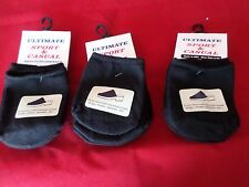 9 Pair Womens Toe Topper Half Sock Black Slings Mules Sandals 4-10 USA