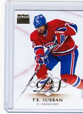 13-14 2013-14 FLEER SHOWCASE P.K. SUBBAN SKYBOX PREMIUM 14 MONTREAL CANADIENS