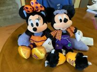 Disney Halloween 2019 Mickey & Minnie Mouse as Werewolf & Cat 13-Inch Plush NWT