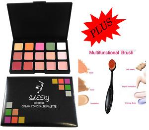 New 15 Colours Concealer Palette kit Face Makeup Contour Cream With Brush