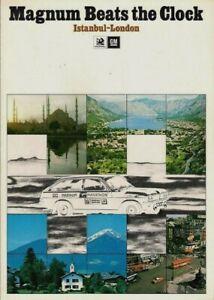 Vauxhall Magnum Istanbul-London Marathon 1974 UK Market Foldout Sales Brochure