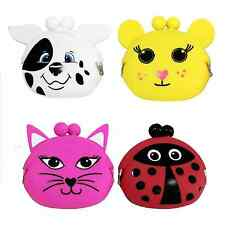 Animal Silicon Coin Purse Soft Money Holder Cat Ladybird Mouse Jelly Wallet Bag