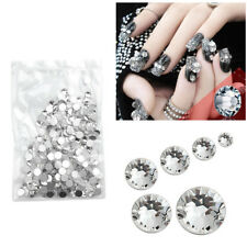1440 Clear Crystal Flat Back Rhinestone Diamante Gems Nail Art Crafts Mixed Size
