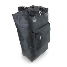 Hand Luggage Collapse Case Trolley Wheeled Cabin Bag Baggage Ryanair Easyjet 55x Black