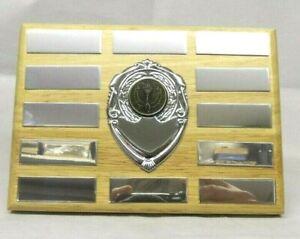 "5"" Annual Sports/Activity Presentation Shield - 12 Plates & Free Engraving!"