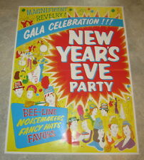Old Vintage c.1960's - NEW YEAR'S EVE PARTY - Biestle Party Favors / Hats POSTER