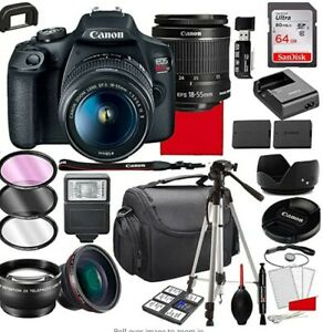Canon EOS Rebel T7 Digital SLR Camera with lots of accessories