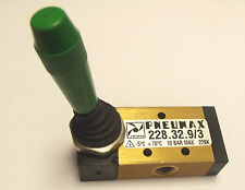 Pneumax 228.32.9/3 it is a 3/2 Valve , 1/8 BSP with 2 position Diff Colours avai