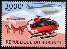 MBB / Kawasaki bk-117 rega Swiss Air Ambulance Hélicoptère EC145 TIMBRE AVION N ° 1