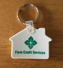 Vintage Keychain FARM CREDIT SERVICES Key Ring Fob Agriculture USA Made
