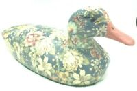 Vintage Ceramic Floral Painted Duck Large 13 Inches Rare