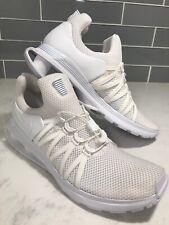 Nike Shox Gravity Mens AR1999-100 Triple White Men's Running Shoes Size 10.5