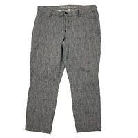 Khakis by GAP Black White Crop Slim City Pants Womens Size 14