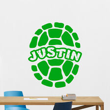 Personalized Ninja Turtles Wall Decal Custom Name Vinyl Sticker Kids Art 164zzz