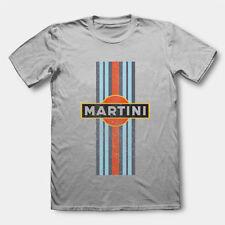 RETRO MARTINI RACING T SHIRT VINTAGE CAR PREMIUM COTTON