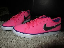 NEW UK 6 Women's NIKE Trainers Bright Pink Canvas Sand Shoe Summer Silver Tick