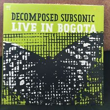 """DECOMPOSED SUBSONIC LIVE IN BOGOTA 2003 DANCE HOUSE 12"""" VINYL"""