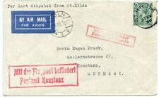 1930 Last Dispatch from St Kilda airmail cover to Germany - KGV 4d ST KILDA cds
