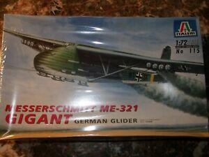 Maquette avion 1 : 72    MESSERSCHMITT  ME 321 GIGANT      GLIDER        ITALERI