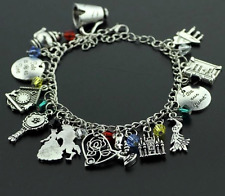 NEW Beauty & the Beast Silver Plated Charm Bracelet Perfect Gift for Christmas