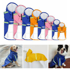 Pet Reflective Raincoat Coat Puppy Large Elderly Dog Hoodie Rainwear Jacket Sale