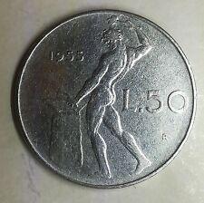 Repubblica Italiana 50 lire 1955 Vulcano circolata