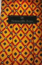 ERMENEGILDO ZEGNA Silk Tie Yellow diamond pattern