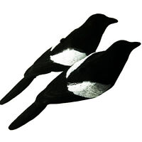 2pcs Hunting Decoy Fake Flocked Magpie Decoy Bird Painted Shooting Trap Cage