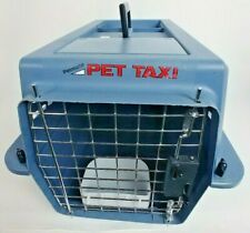 "Petmate 19"" Small Pet Taxi Kennel Transport Crate Gray with Feeder"
