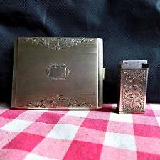 Stara Tura sterling silver - block lighter & cigarette case -