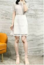 AUTH Ted Baker ALLARA Short sleeved lace mini dress Ivory 0-4