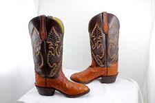 Carter's Boots Montana Brown Full Quill Ostrich Brown Men's 7.5 EE Cowboy