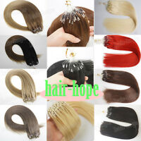 Micro Ring Beads Loop Tip Remy Human Hair Extensions 1g/s Double Drawn 50S 100S